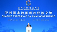 Senior official stresses sharing experience on governance for Asia's progress